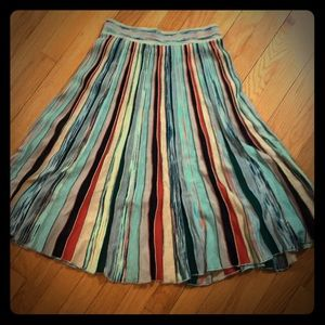 A-Line multicolored skirt from Anthropologie